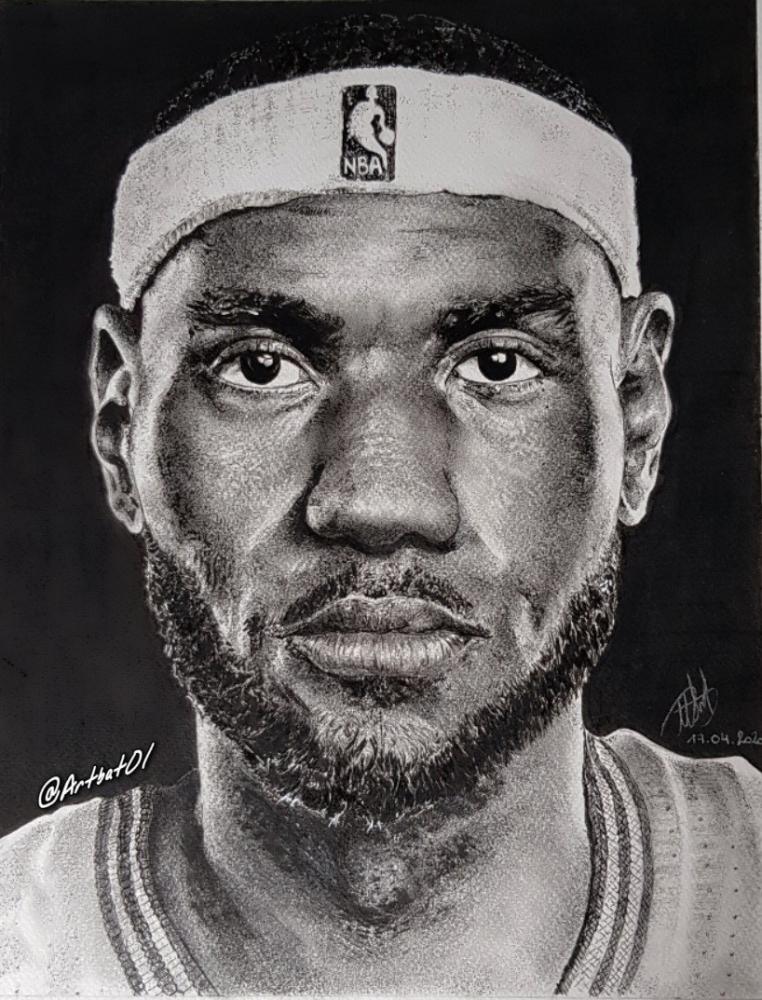 LeBron James par art-bat